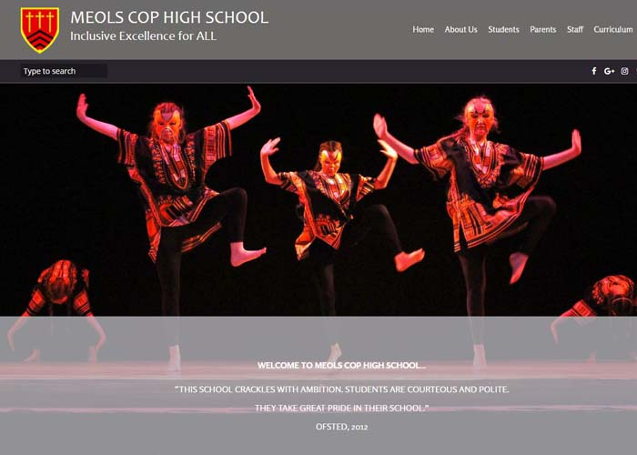 Meols Cop High School Website