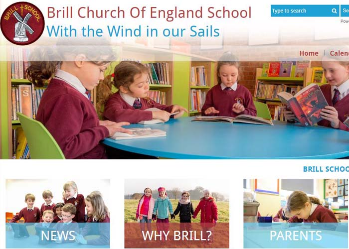Brill Church of England School Website Design