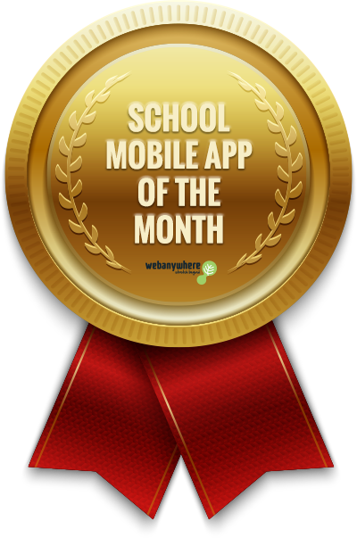 school mobile app of the month award