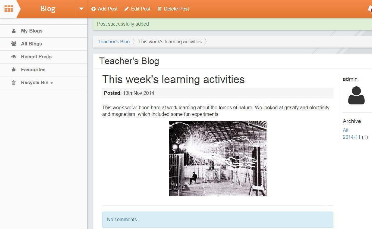 School Jotter Blog App