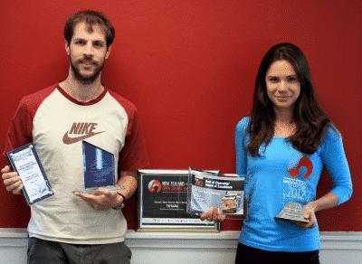 Totara senior developers with 2012 awards haul.