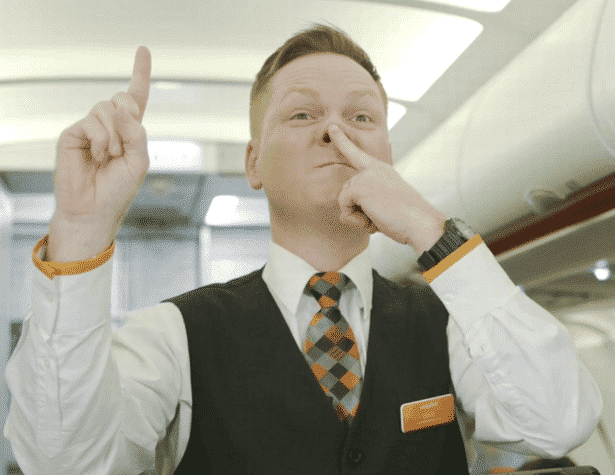 easyjet staff - bacon baguette