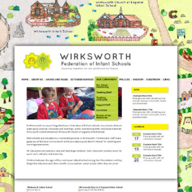 Wirksworth Federation of Infant Schools website design