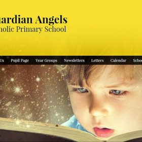 Guardian Angels Catholic Primary website design