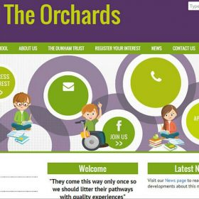 The Orchards Free School website design
