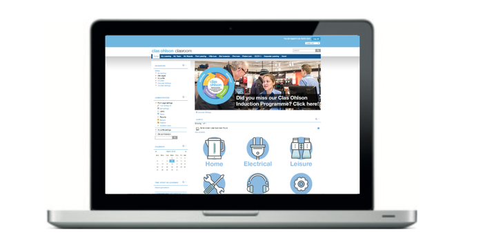 clas ohlson learning management system