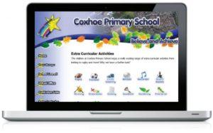 coxhoe school web design