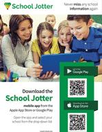 school mobile app qr code flyer